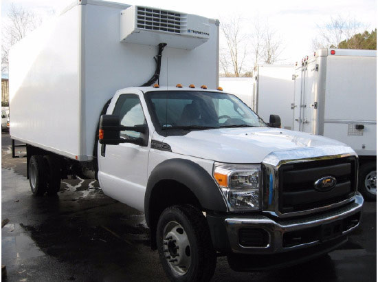Refrigerated Truck Vehicle : Ford f refrigerated truck emerald transportation