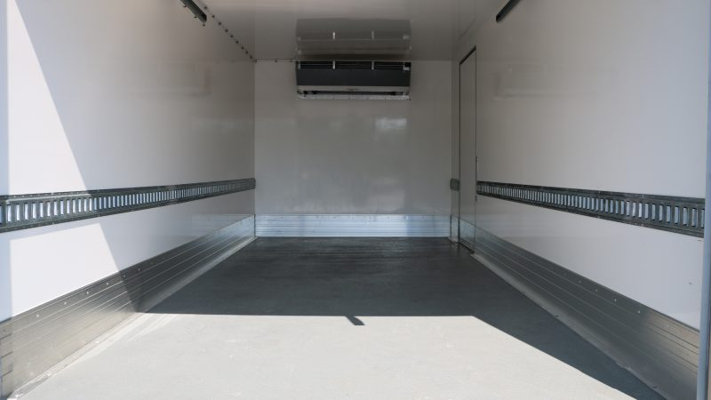 Refrigerated truck interior