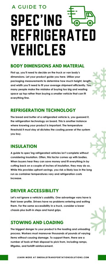 A Guide To Spec'ing Refrigerated Vehicles