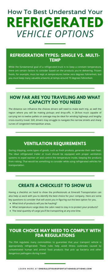 How To Best Understand Your Refrigerated Vehicle Options